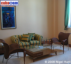 Junior Suite Living Room in Hotel Telegrafo